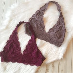 Other - Lacey Bralette in Burgundy - Plus Size